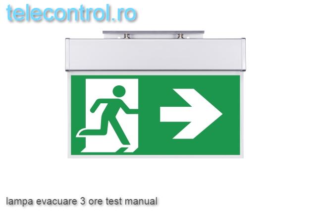Lampa evacuare aplicata, IP20, 3h, mentinut, test manual, 3.6W, Intelight 99993 [3]