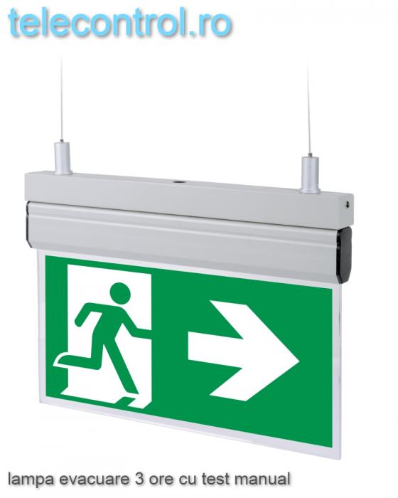 Lampa EXIT evacuare aplicata, IP20, 3h, mentinut, test manual, 3.8W, Intelight 40095 [2]