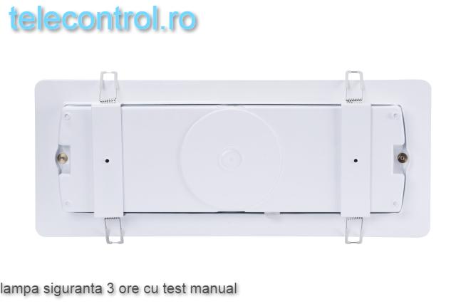 Lampa siguranta aplicata, IP65, 3h, mentinut, test manual, 7W,  Intelight 98305 3