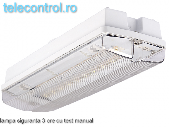 Lampa siguranta aplicata, IP65, 3h, mentinut, test manual, 7W,  Intelight 98305 [0]