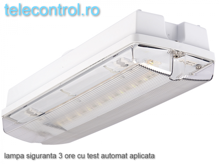 Lampa siguranta aplicata, IP65, 3h, mentinut, test automat, 4W, Intelight 99905 [0]