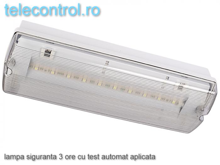 Lampa siguranta aplicata, IP65, 3h, mentinut, test automat, 4W, Intelight 99905 [1]