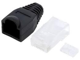Mufa date UTP / FTP RJ45 cat 6 cu protectie neagra [0]