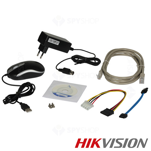 NVR 4 canale IP, 6 MP, Hikvision DS-7604NI-E1/A [2]