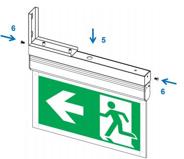 Suport fixare tip steag sau consola lampa emergenta Oximia Intelight 97436      0