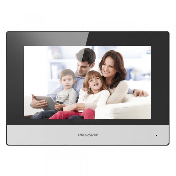 Modul post intern videointerfon touchscreen wireless POE, 7 inch, 128 MB, aparent, Hikvision DS-KH6320-WTE1 [1]
