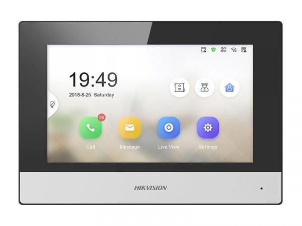 Modul post intern videointerfon touchscreen wireless POE, 7 inch, 128 MB, aparent, Hikvision DS-KH6320-WTE1 [0]