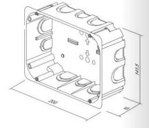 Doza aparataj modular 2x7M incastrata in pereti din rigips HM72 [1]