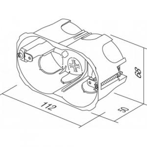 Doza aparataj modular 3M incastrata in pereti din rigips HM30 [1]
