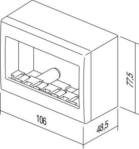 Doza aparataj modular 4 module aplicata Cubo AC41PW [2]