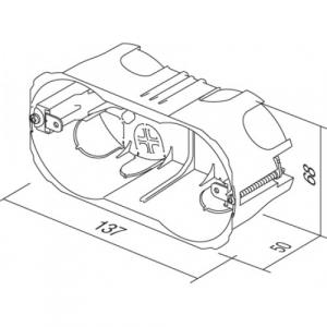 Doza aparataj modular 4M incastrata in pereti din rigips HM40 [1]