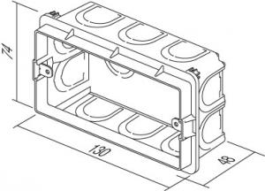 Doza aparataj modular 4M incastrata in tencuiala DM40 [1]