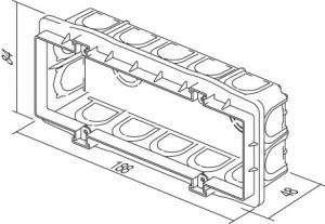 Doza aparataj modular 7M incastrata in tencuiala DM70 [1]