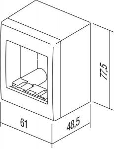 Doza aparataj modular 2 module aplicata Cubo AC21PW [2]