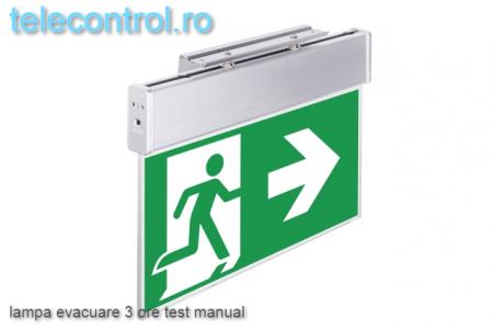 Lampa evacuare aplicata, IP20, 3h, mentinut, test manual, 3.6W, Intelight 99993 [2]