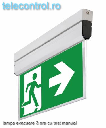 Lampa EXIT evacuare aplicata, IP20, 3h, mentinut, test manual, 3.8W, Intelight 40095 [0]