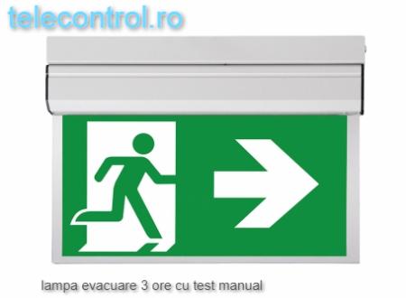 Lampa EXIT evacuare aplicata, IP20, 3h, mentinut, test manual, 3.8W, Intelight 40095 [1]