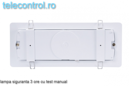 Lampa siguranta aplicata, IP65, 3h, mentinut, test manual, 7W,  Intelight 98305 [3]