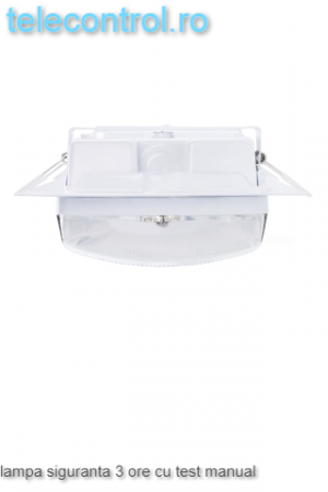 Lampa siguranta aplicata, IP65, 3h, mentinut, test manual, 7W,  Intelight 98305 [2]