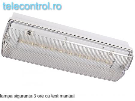Lampa siguranta aplicata, IP65, 3h, mentinut, test manual, 7W,  Intelight 983051