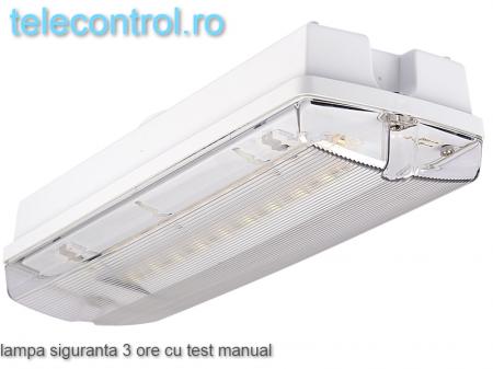 Lampa siguranta aplicata, IP65, 3h, mentinut, test manual, 7W,  Intelight 983050