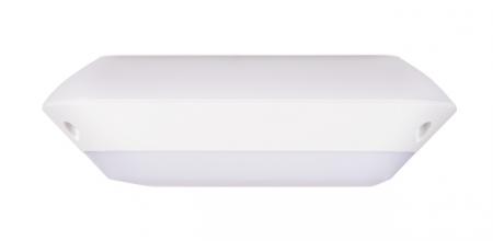 Plafoniera led patrata, exterior, senzor prezenta, 12W, 4000K, IK10,Intelight 97733   [1]