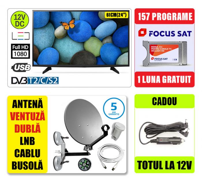 Kit TV 12V/220V 60CM  VIVAX + Antena Camion [0]