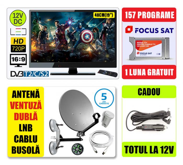 Kit TV 12V,48CM  SENCOR + Antena Camion + 1 luna [0]
