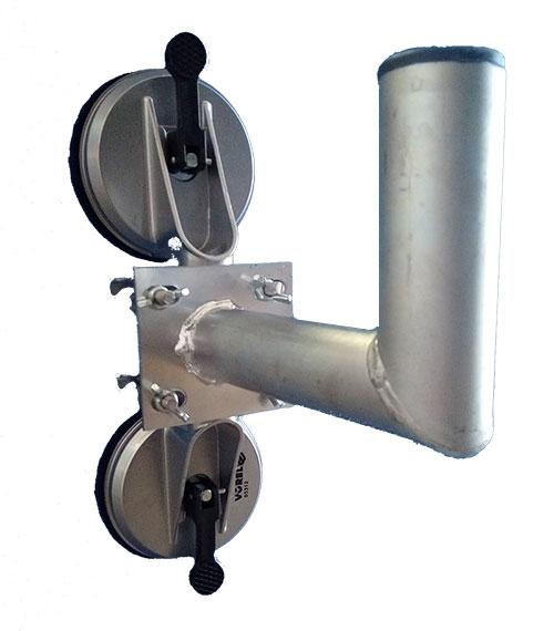 Ventuza dubla aluminiu + suport [0]
