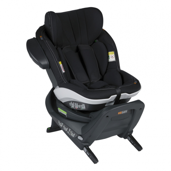 BeSafe iZi Turn Premium Black Car Interior. i-Size, rotire 360 grade. Poziție somn excelentă. 6 luni -> 4 ani (105 cm sau 18 kg). 0