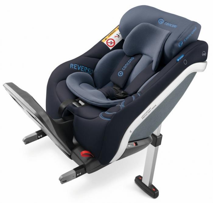 Concord - Reverso Plus i-Size. De la naștere la 4 ani (105 cm). Reductor nou-născut inclus. Poziționare doar cu spatele la direcția de mers. Fixare cu Isofix. 0