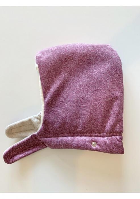 Isara - Protecție de vreme rece pentru marsupiu. Glugă inclusă. Culoare Wild Cherry. 1