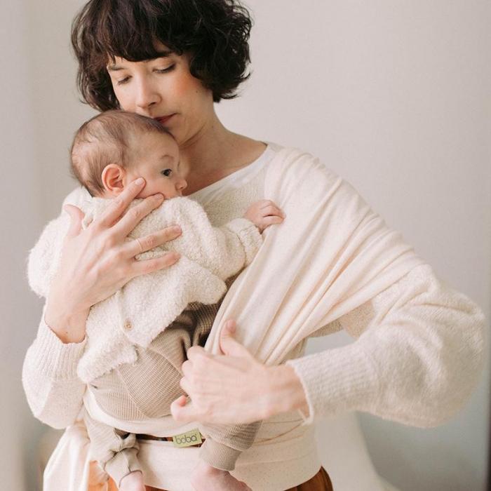 Wrap elastic Boba, model Ecru Dot. De la naștere la 15 kg. 1