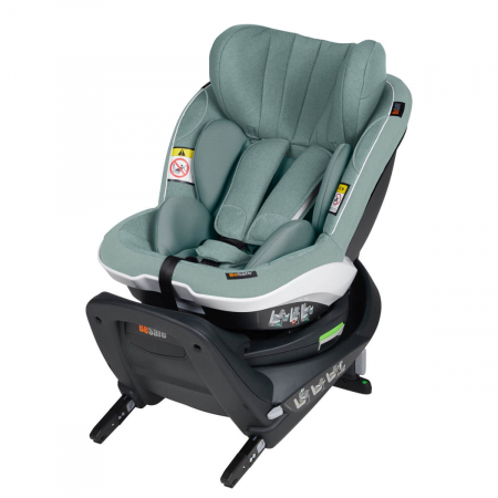 BeSafe iZi Turn, 360 grade, isofix, 6 luni - 4 ani. Culoare Sea Green Melange.3