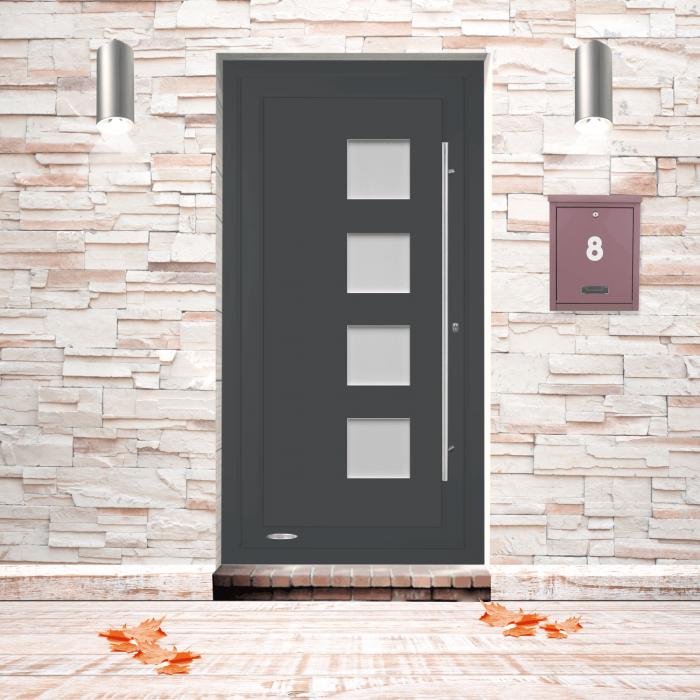 Henri, Porte d'entrée résidentielle premium, profilé PVC