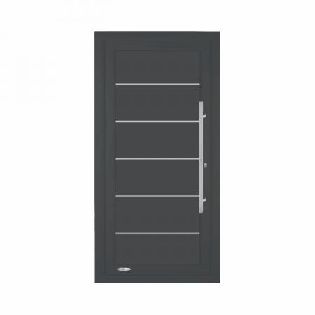 Philippe, Porte d'entrée résidentielle premium, profilé PVC