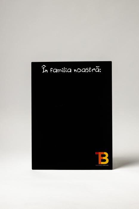 """Tablă """"În familia noastră"""" 0"""
