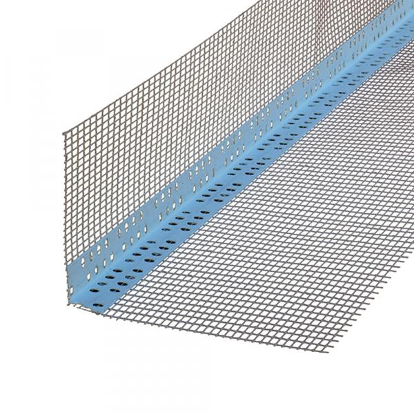 Profil colt PVC cu plasa pentru fatada, 7+7 / 10+10 / 10+15 cm, 2.5m 0