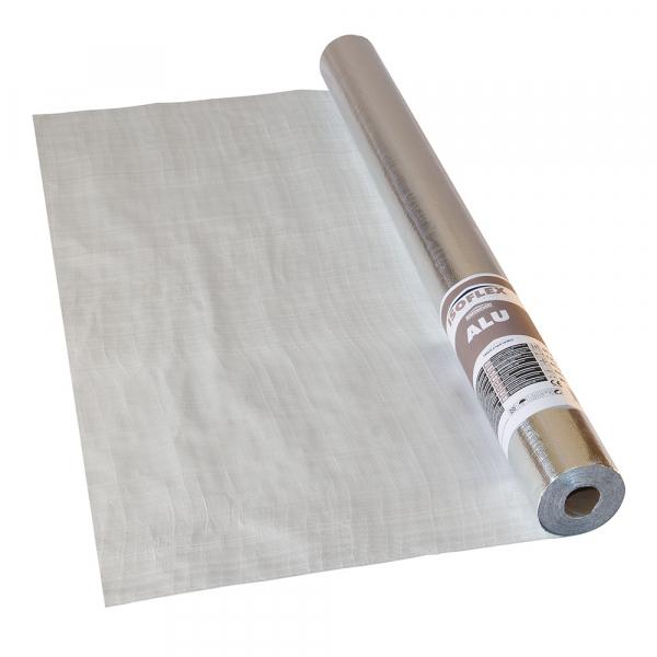 Folie bariera de vapori aluminizata, 100g/mp, ISOFLEX ALU, 75 mp [0]