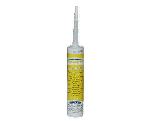 Pasta adeziv si etansare folii de acoperis MASTERFOL SEAL & FIX, 315 ml 0