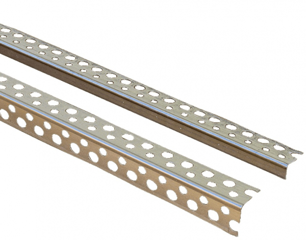 Sina aluminiu perforata protectie colt gipscarton MASTERPROFIL ALU, 20x20 mm [0]
