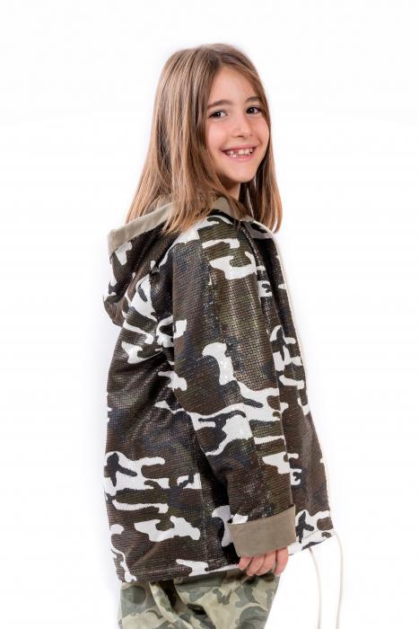 Geaca Military - camuflaj din paiete 1