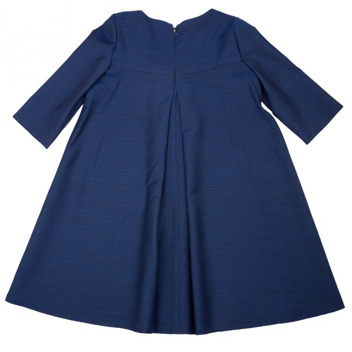 Rochiță de lână (80%), elegantă creată dintr-un material moale, foarte plăcut la purtat.  Încălțată cu o pereche de pantofi asortați, fetița dumneavoastră va fi gata de petrecere cât ai clipi. 2