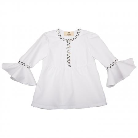 Bluză fete albă0