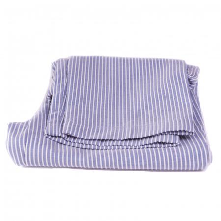 Pantaloni vară bleu cu dungi albe3