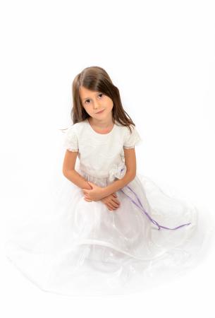 Rochiță albă Crăiasa Zăpezii0