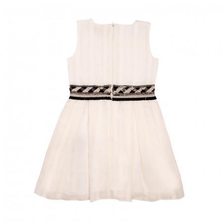 Rochiță albă cu brâu de paiete1