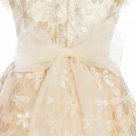 Rochiță dantelă crem-auriu3