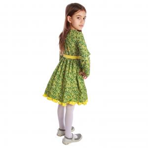 Rochiță imprimeu floral galben-verde1