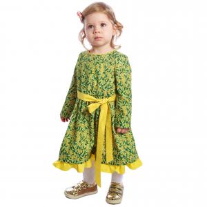 Rochiță imprimeu floral galben-verde0